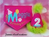 Birthday Girl Dog Bandana Birthday Girl Dog Bandana and Party Hat Set Personalized Name
