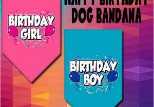 Birthday Girl Dog Bandana Dog Bandana Birthday Girl Birthday Boy
