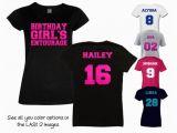 Birthday Girl Entourage Shirts Birthday Girl 39 S Entourage Shirt Personalize the Name