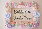 Birthday Girl Frames Birthday Girl Decoden Frame with Mod Melts and Mod Podge