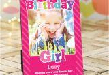 Birthday Girl Frames Personalised Pink Birthday Girl Photo Frame
