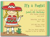 Birthday Girl In Spanish Fiesta Girl Invitations for Kids Birthday Party by Milelj