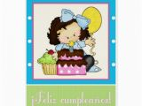 Birthday Girl In Spanish Little Girl Cake Spanish Happy Birthday Card 1 Zazzle
