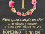 Birthday Girl In Spanish Spanish Chalkboard Gold Foil Pink First 1st Birthday
