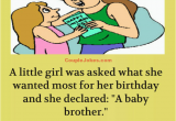 Birthday Girl Jokes A Little Girl Wants A Baby Brother for Her Birthday