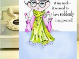 Birthday Girl Jokes Mad at Neck Funny Birthday Card for Friend Funny Woman Etsy