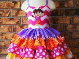 Birthday Girl Outfit 2t Boutique Girls Birthday Dress Dora Ruffle Dress Pageant