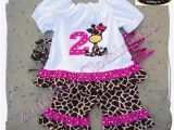 Birthday Girl Outfit 2t Items Similar to Giraffe Girl Outfit Set Birthday Girl