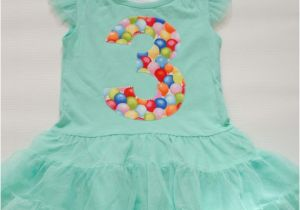 Birthday Girl Outfit 3t Girls 3rd Birthday Dress Tutu Dress 3t Mint Dress Third