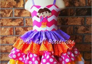 Birthday Girl Outfits 2t Boutique Girls Birthday Dress Dora Ruffle Dress Pageant
