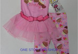 Birthday Girl Outfits 2t Happy Birthday toddler Girls 2t 3t 4t Tunic Set Outfit