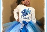 Birthday Girl Outfits Adults Frozen Fractals Snowflake Girls Blue Birthday Tutu Outfit