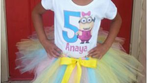 Birthday Girl Outfits Adults Minions Despicable Me Girls Birthday Tutu Outfit Simple