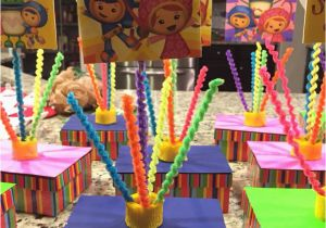 Birthday Girl Pin Dollar Tree Team Umizoomi Party Table Centerpieces Mostly Dollar Tree