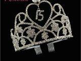 Birthday Girl Rhinestone Tiara Gold Silver Quinceanera 15 Fifteen Birthday Party Tiaras