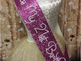 Birthday Girl Sash 21 21st Birthday Sash Pink Glitter Sash Personalised Sash