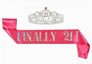 Birthday Girl Sash and Crown 2 Pack Set Of Birthday Girl Tiara and Birthday Sash