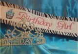 Birthday Girl Sash and Crown Birthday Girl Sash and Tiara