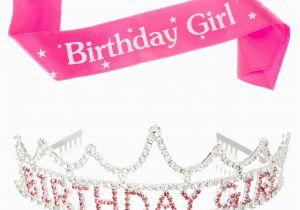 Birthday Girl Sash and Crown Birthday Girl Tiara and Sash Bundle Accessories Set