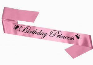 Birthday Girl Sash and Crown Birthday Princess Sash with Crown Motif Tiara Gift Present