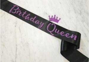Birthday Girl Sash and Crown Birthday Sash Birthday Girl Sash Birthday Queen Sash