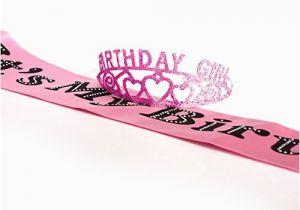Birthday Girl Sash and Crown Pink Birthday Girl Glitter Tiara and It S My Birthday