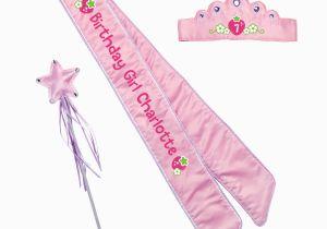 Birthday Girl Sash and Crown Strawberry Shortcake Birthday Girl Pink Sash and Crown Set