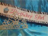 Birthday Girl Sash and Tiara Birthday Girl Sash and Tiara