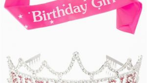 Birthday Girl Sash and Tiara Birthday Girl Tiara and Sash Bundle Rhinestone Silver Pink