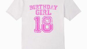 Birthday Girl Shirt 18 18th Birthday Sports Jersey T Shirt 18 Year Old Girl