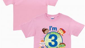 Birthday Girl Shirt Walmart Personalized Super why Birthday toddler Girl Pink T Shirt