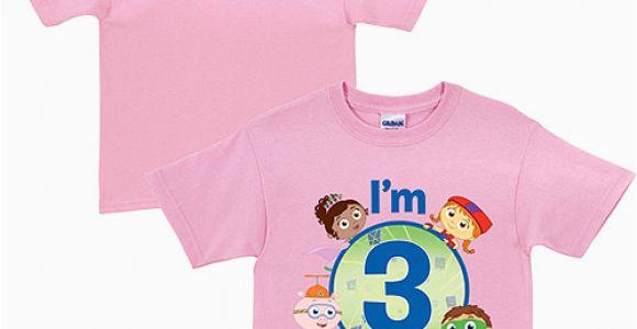 Birthday Girl Shirt Walmart Personalized Super why Birthday toddler Girl Pink T Shirt