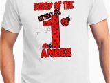 Birthday Girl T Shirt for Adults Birthday Girl Adult Lady Bug Birthday Shirt Polka Dot