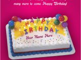 Birthday Greeting Card with Name and Photo Beautiful Birthday Greeting Card with Cake Wishes