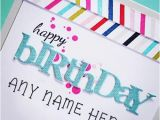 Birthday Greeting Card with Name and Photo Colorful Happy Birthday Wish Cards with Name