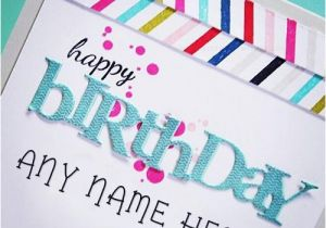 Birthday Greeting Card With Name And Photo Colorful Happy Wish Cards