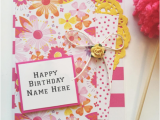 Birthday Greeting Card with Name and Photo Greeting Card Birthday with Name Happy Birthday Wishes