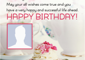 Birthday Greeting Card With Name And Photo Happy Ecards