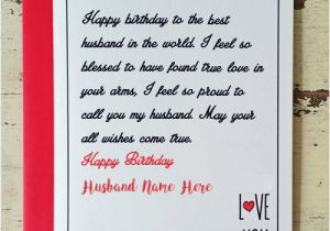 Birthday Greeting Card With Name And Photo Husband Wishes Create Online