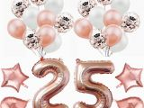 Birthday Ideas for 25 Year Old Man Amawill 32 Inch Happy 25 Birthday Foil Balloons Rose Gold