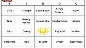 Birthday Ideas for 27 Year Old Man 90th Birthday Party Bingo Game 60 Cards Old Age theme