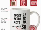 Birthday Ideas for 50 Year Old Man 50th Birthday Gifts for Women Fifty Years Old Men Gift Mug