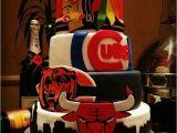 Birthday Ideas for Boyfriend Chicago Chicago Teams Tier Cake Baking Pinterest Cubs Tier