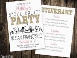 Birthday Ideas for Boyfriend San Francisco San Francisco Bachelorette Party Invitation Itinerary