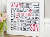 Birthday Ideas for Him 21st 21st Birthday Personalised Gifts for Him Chatterbox Walls