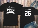 Birthday Ideas for Him 26th Items Similar to 26th Birthday Gifts for Men Shirts 26