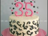 Birthday Ideas for Him 35 35th Birthday Cake Except with Chevrons Around the Edge