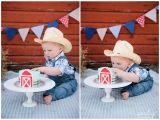 Birthday Ideas for Him Calgary Calgary Cake Smash Photography Kaleb 39 S Barn Yard theme