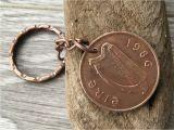 Birthday Ideas for Him Ireland 1985 1986 Irish Coin Keychain Keyring Key Fob 32nd or