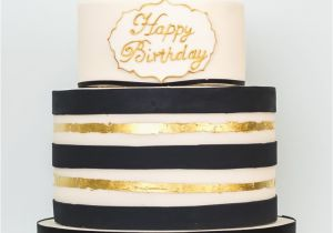 Birthday Ideas for Him London Black and Gold Birthday Cake Cake Decorating Modern